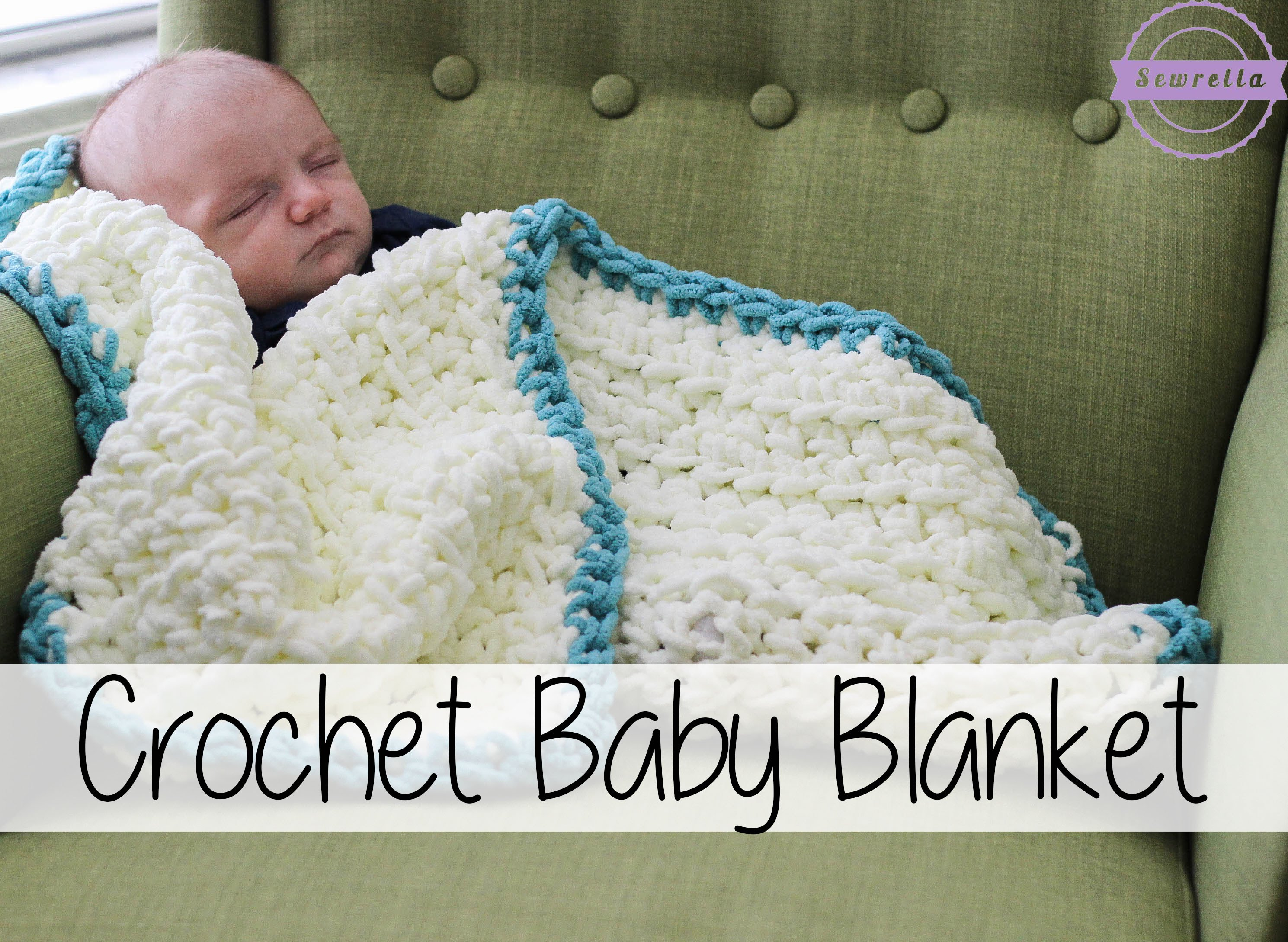 Begginer Crochet Projects Baby Blankets Easy Beginner Crochet Ba Blanket Sewrella Youtube