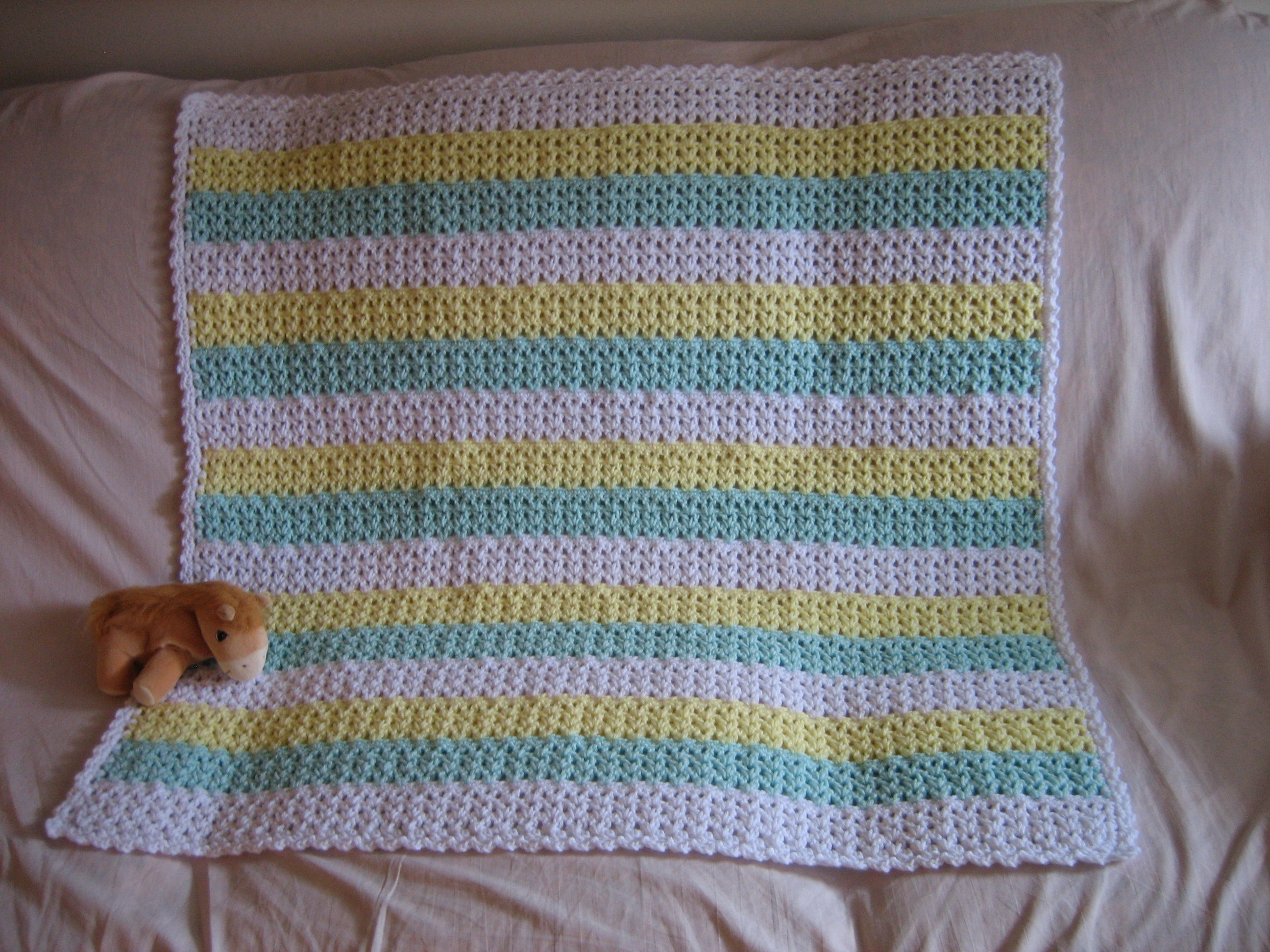 Begginer Crochet Projects Baby Blankets Striped Crochet Afghan Favecrafts