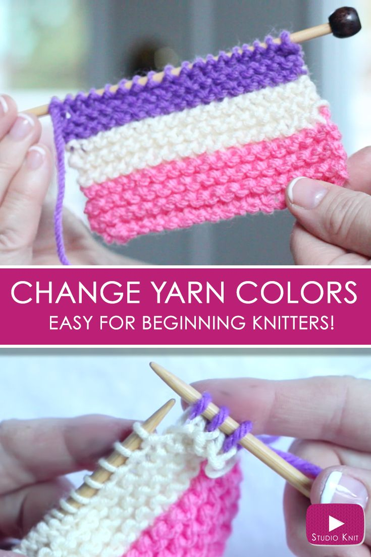 Begginer Knitting Projects Learning How To Change Yarn Colors While Knitting For Beginning Knitters With