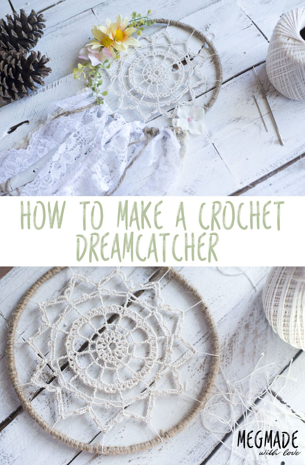 Crochet Dreamcatchers Free Patterns Crochet Dreamy Dreamcatcher Pattern Red Heart Patterns From