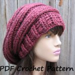 Crochet Hat Patterns Crochet Pattern Crochet Hat Slouchy Hat Crochet Pattern Pdf
