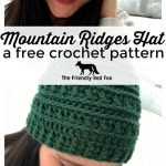 Crochet Hat Patterns Mountain Ridges Crochet Hat A Free Pattern Thefriendlyredfox