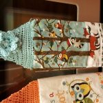 Crochet Kitchen Towel Toppers Life Is A Hoot Crochet Kitchen Towel Toppers Helenmay Crochet