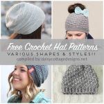 Crochet Patterns Free Free Crochet Hat Patterns Daisy Cottage Designs