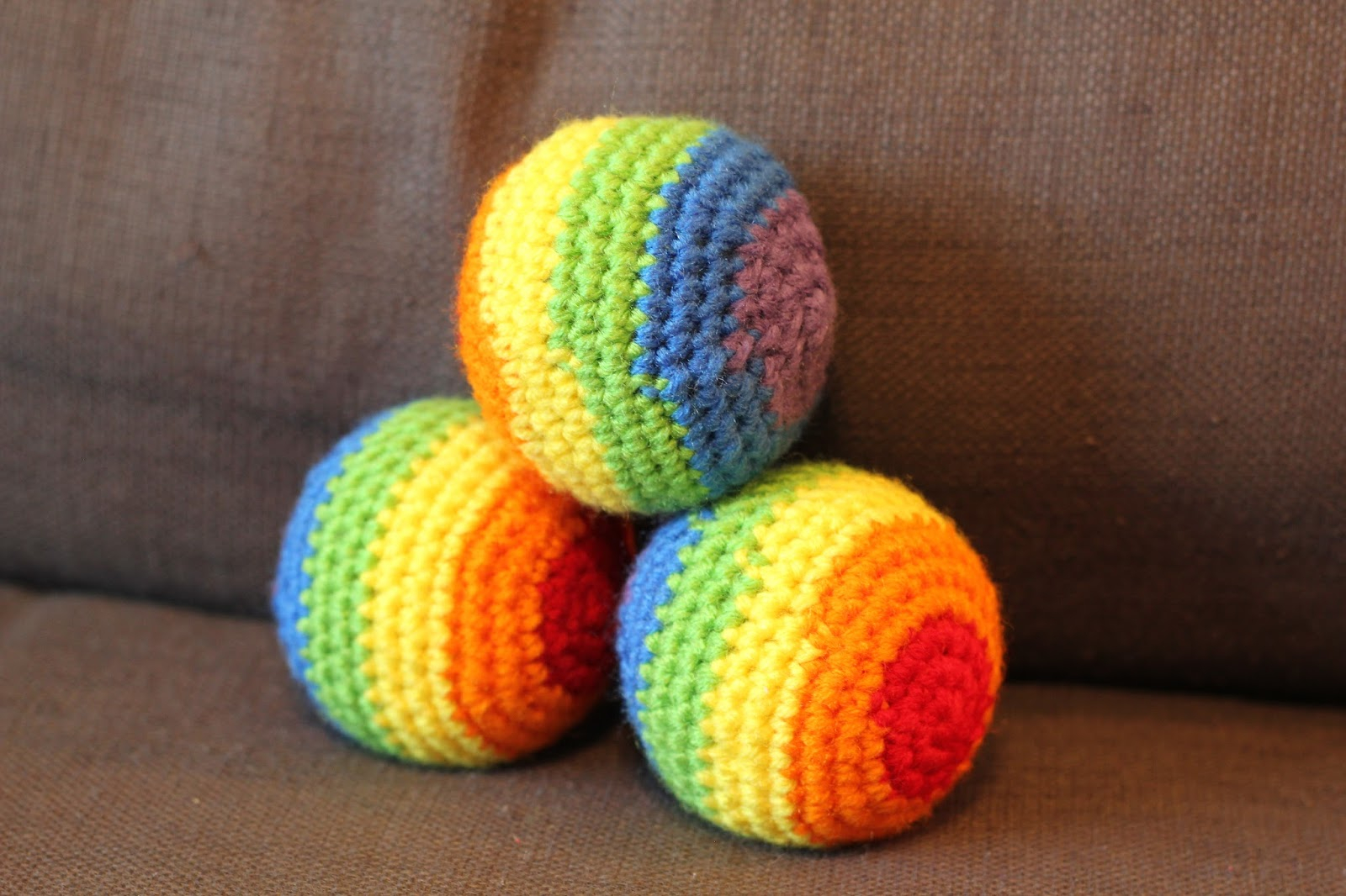 Crochet Sphere Pattern Free Crafting For My Sanity Crochet Rainbow Juggling Balls Free Pattern