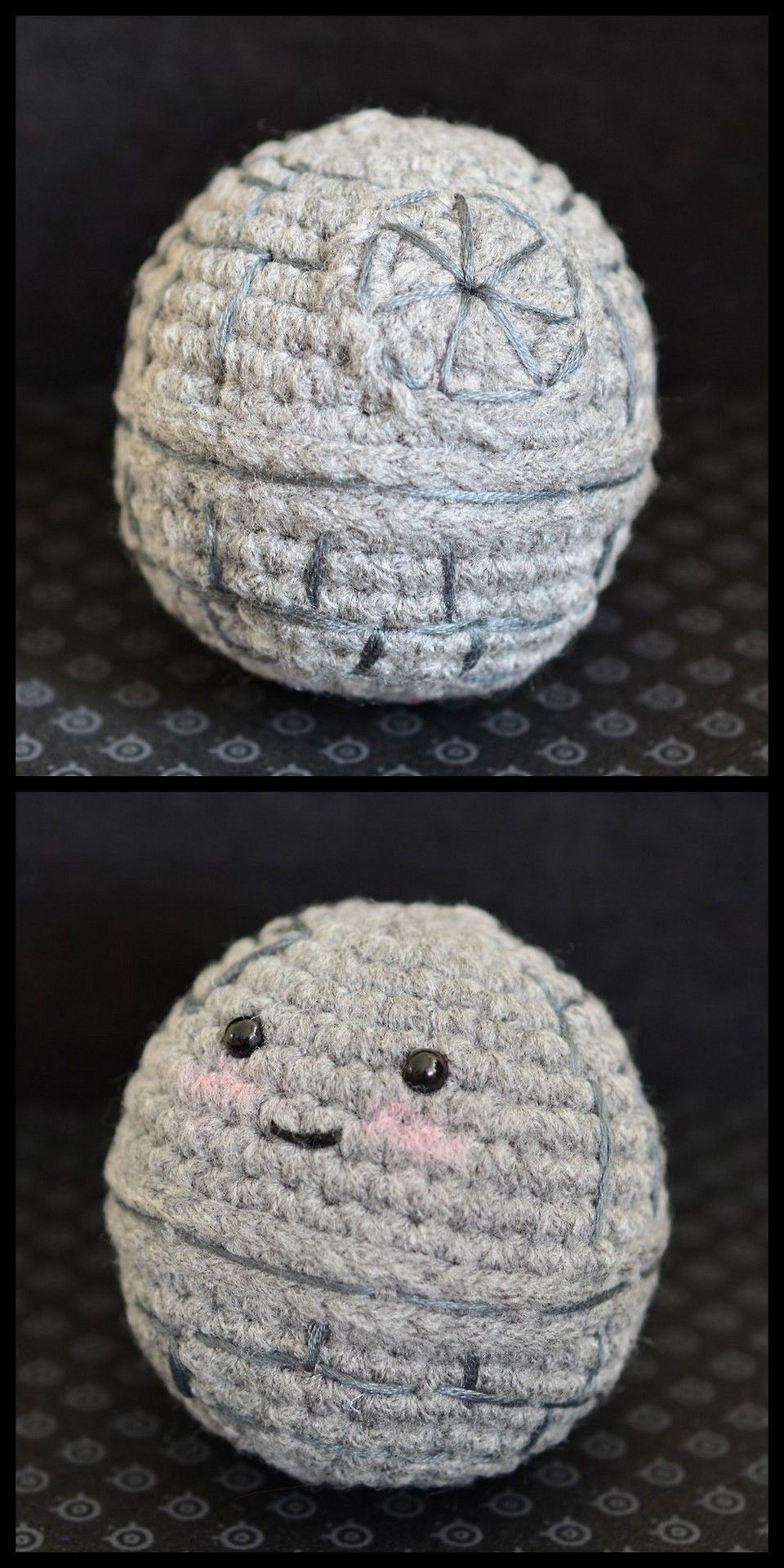 Crochet Sphere Pattern Free Diy Crochet Mini Cute Death Star Free Pattern From Pops De Milk In