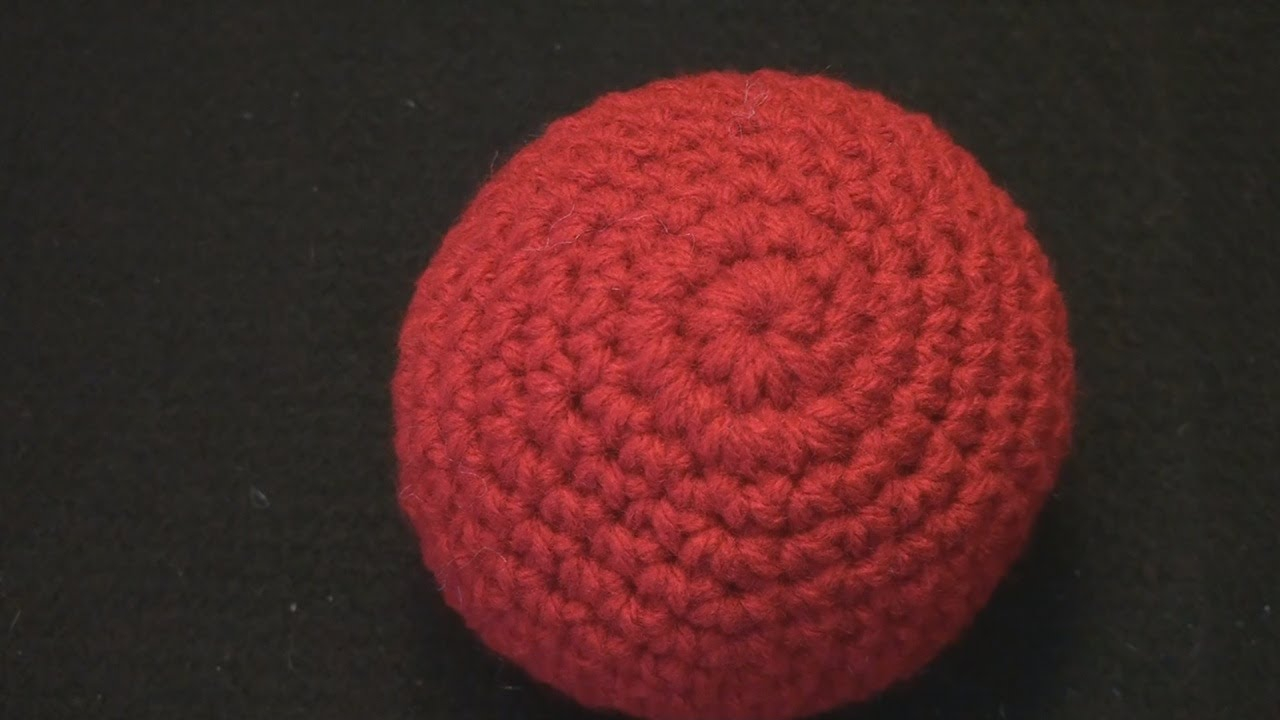 Crochet Sphere Pattern Free How To Make A Crochet Ball Tutorial Amigurumi Extended Slow Motion