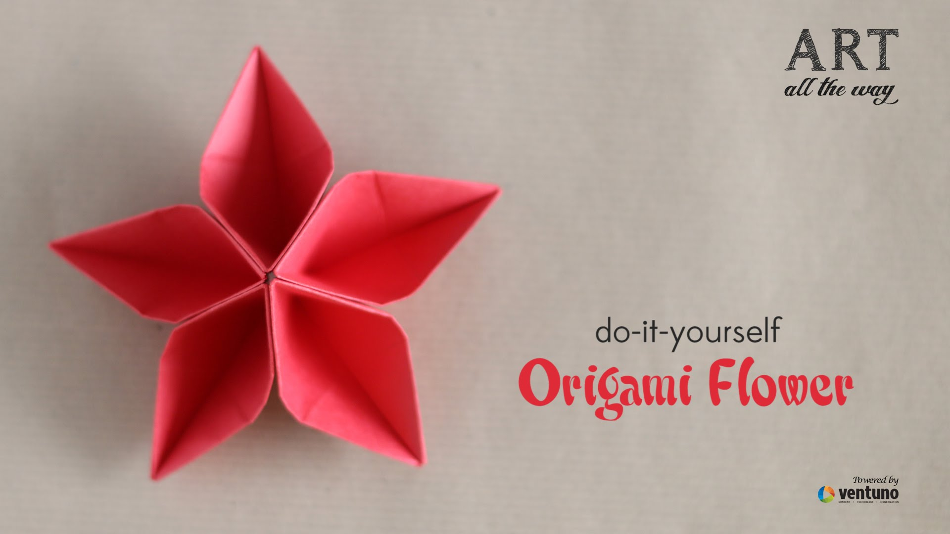 Diy Origami Flowers How To Fold Origami Flower Do It Yourself Youtube