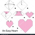 Diy Origami Step By Step Origami Step Step Instructions How To Make Origami An Easy Heart