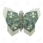 Dollar Bill Origami Money Origami Green Butterfly Folded With Real One Dollar Bill