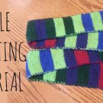 Double Knitting Tutorial Scarfs Double Knitting Tutorial Striped Scarf Youtube