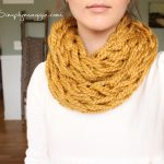 Double Knitting Tutorial Scarfs How To Arm Knit Tutorial Including Video Simplymaggie