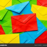 Envelope Origami Letters Colorful Cover Letter Background Multi Colored Envelopes And