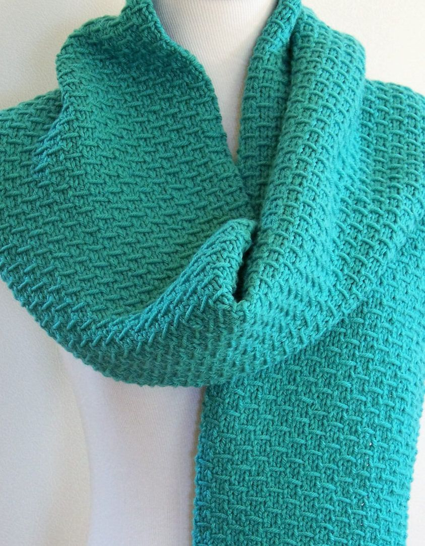Knitting Patterns Easy Scarf Knitting Pattern For 4 Row Slip Stitch Scarf This Easy Scarf