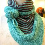 Knitting Patterns Easy Scarf Triangular Scarf The Knit Cafe