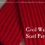 Knitting Patterns Easy Scarf World Turnd Upside Down Easy Knitting Civil War Scarf Comforter