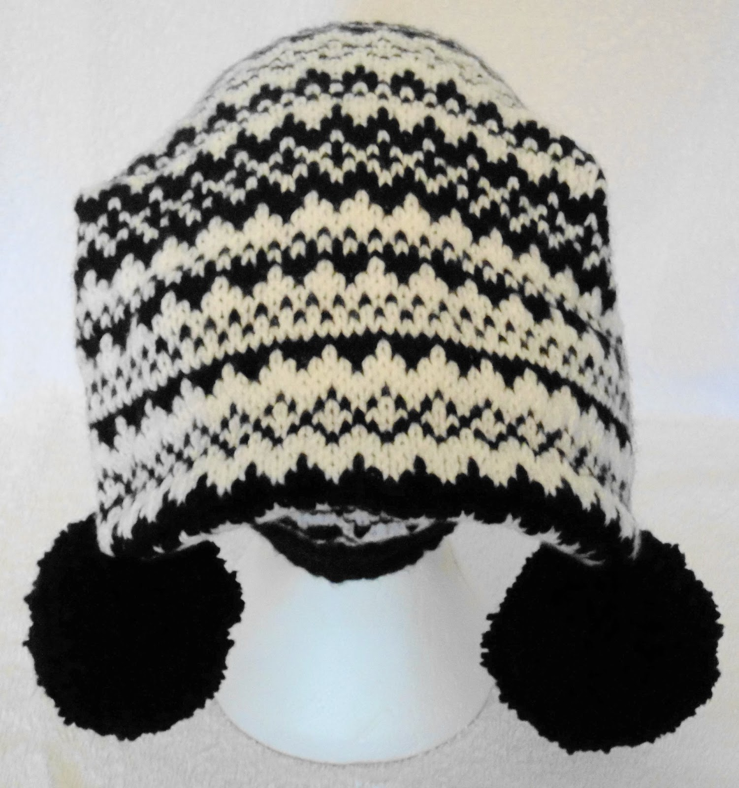 Norwegian Knitting Pattern Hat Norwegian Stripe Ski Hat Designer Hand Knitting Pattern
