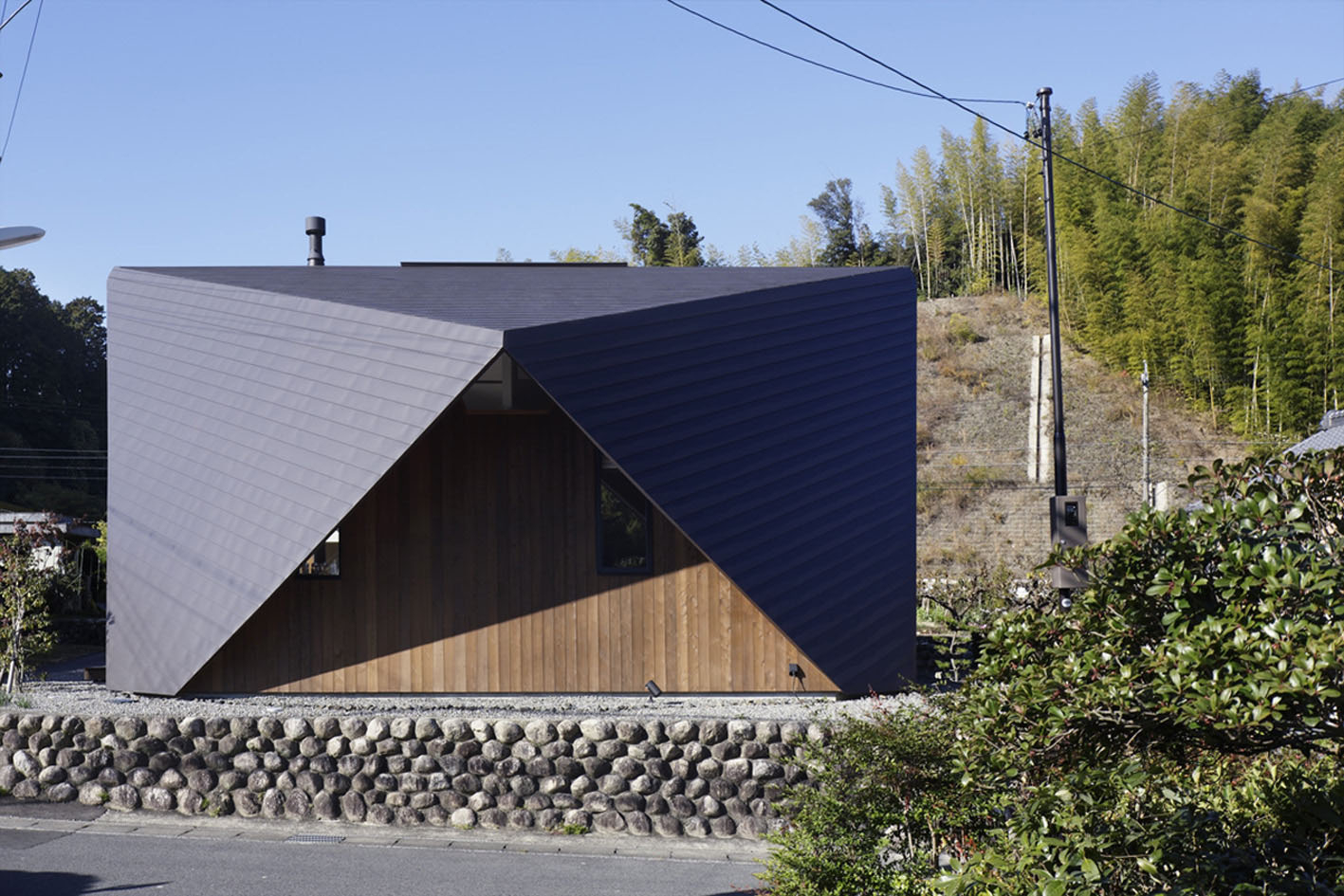 Origami Architecture Design Fascinating Origami House With Architectural Comfort Pockets