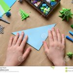 Origami Crafts Decoration Making Origami 3d Xmas Tree With Paper For Decoration Or Greeting