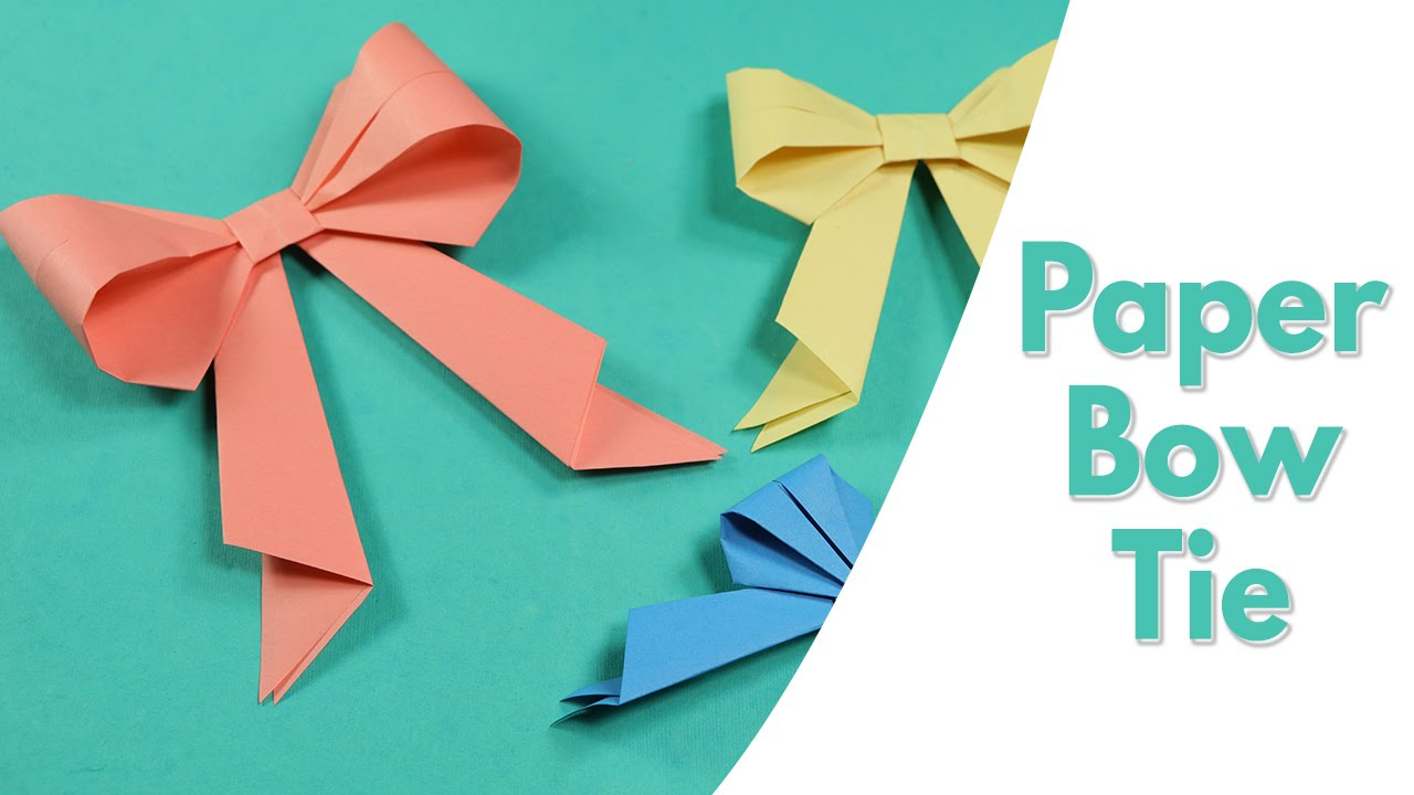 Origami Crafts For Kids Easy Origami For Kids Paper Bow Tie Simple Paper Craft Idea For