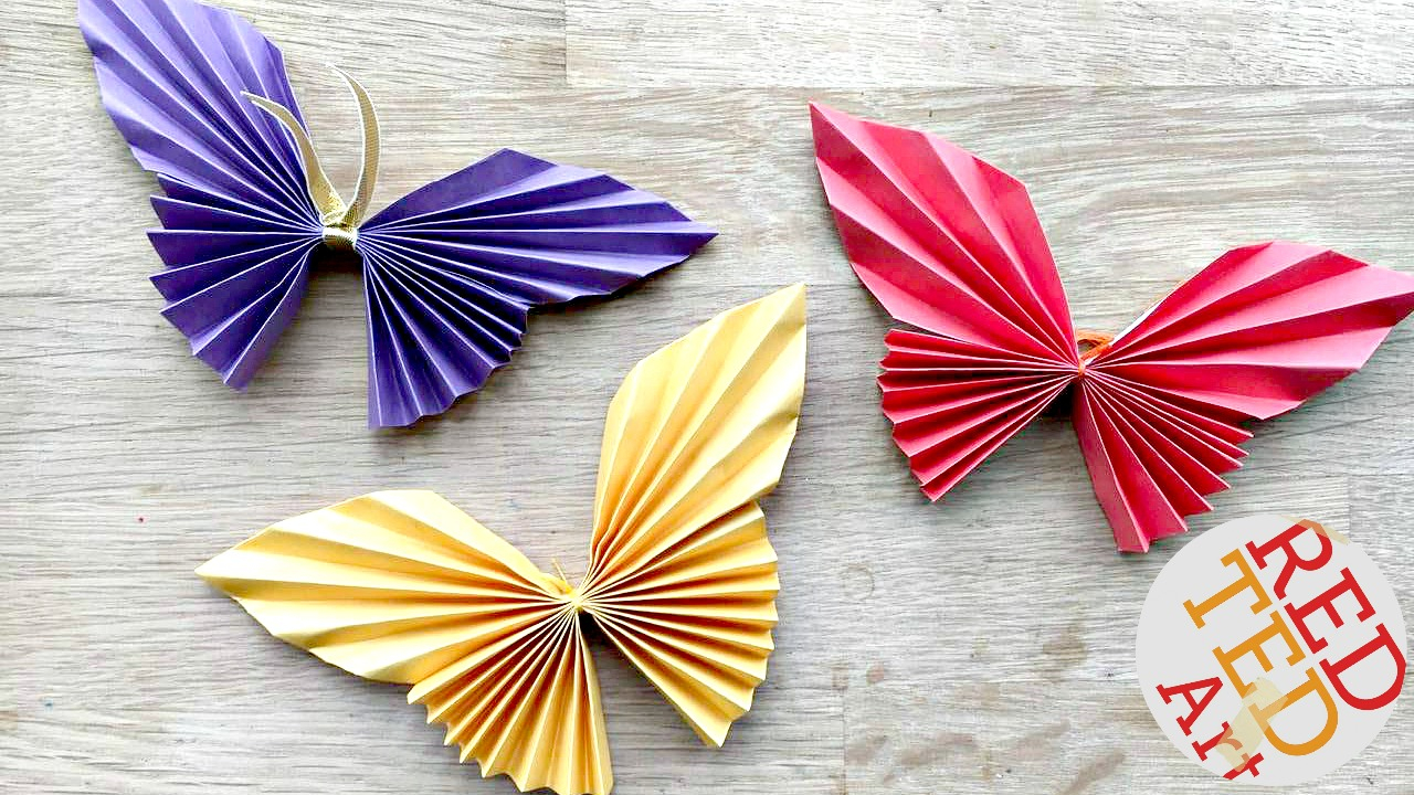 Origami Crafts For Kids Easy Paper Butterfly Red Ted Arts Blog