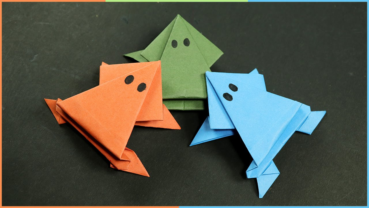 Origami Crafts For Kids Origami Frog That Jumps Easy Fun Paper Craft For Kids Youtube