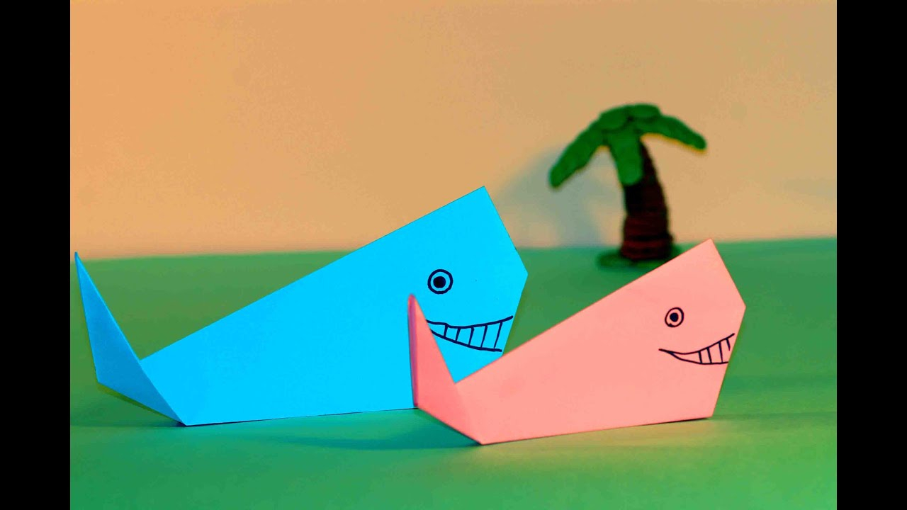Origami Crafts For Kids Paper Crafts For Kids Easy Origami For Kids Origami Whale Simple