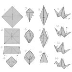 Origami Crane Instructions Doodlecraft Origami Flapping Paper Crane Mobile