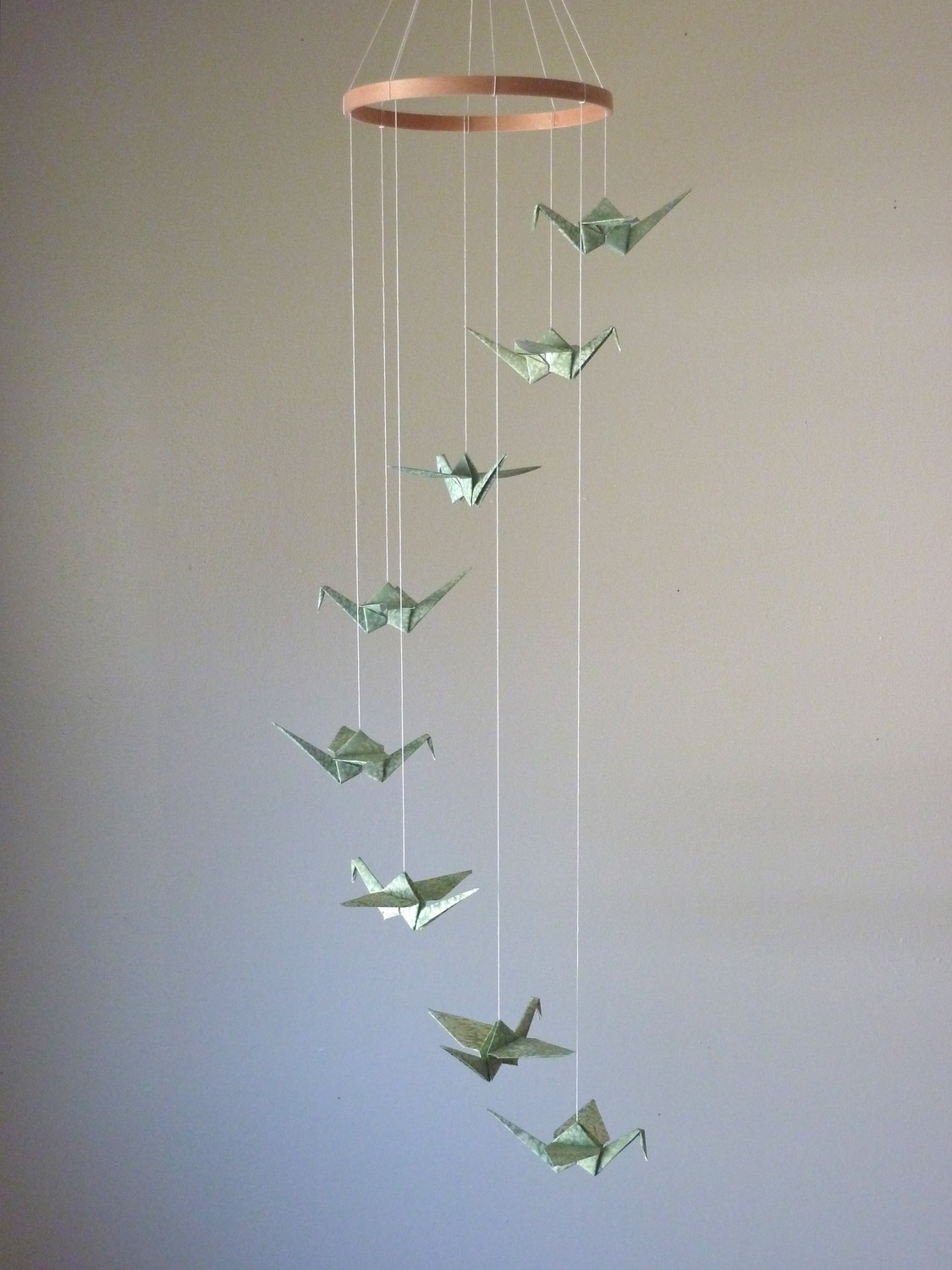 Origami Decoration Bedroom Children Decor Origami Crane Mobile Ba Mobile Art Mobile