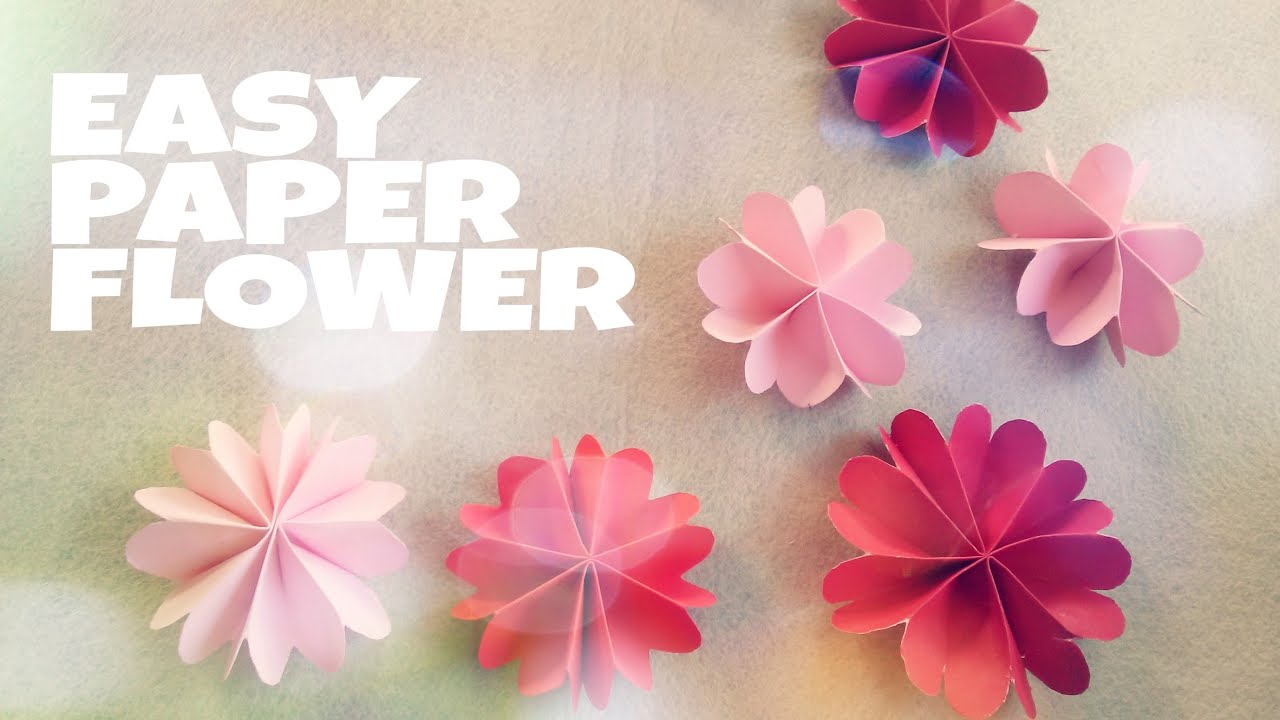 Origami Decoration Bedroom Diy Room Decoration With Paper Flower Youtube