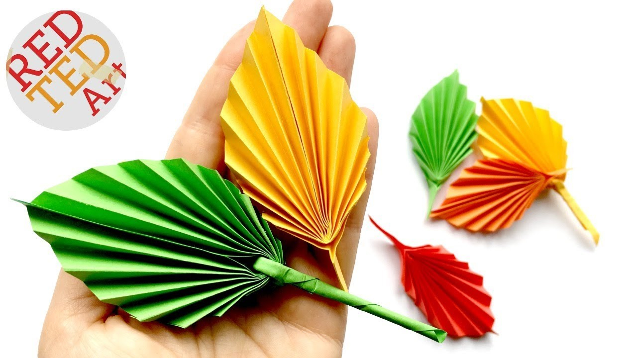 Origami Decoration Bedroom Easy Paper Leaf Great Fall Room Decor Diy How To Make A Paper