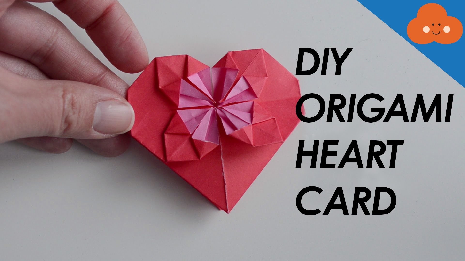 Origami Diy Cards Diy Origami Heart Card Youtube