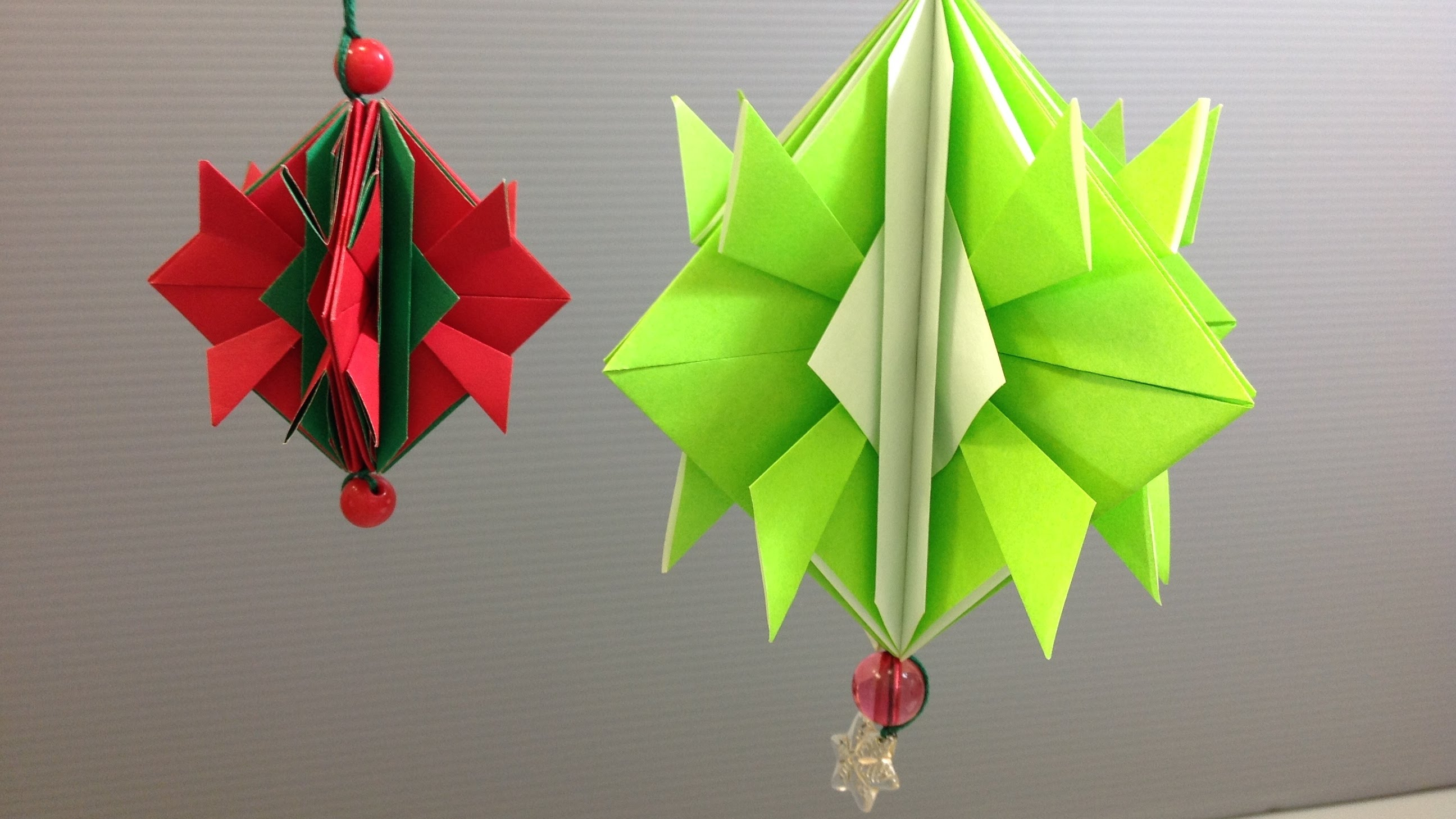 Origami Projects Decoration Easy Origami Christmas Ornament Decoration Youtube