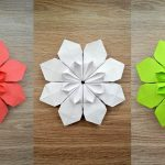 Origami Projects Decoration Very Beautiful Paper Flower Origami Craft Decoration Tutorial Diy
