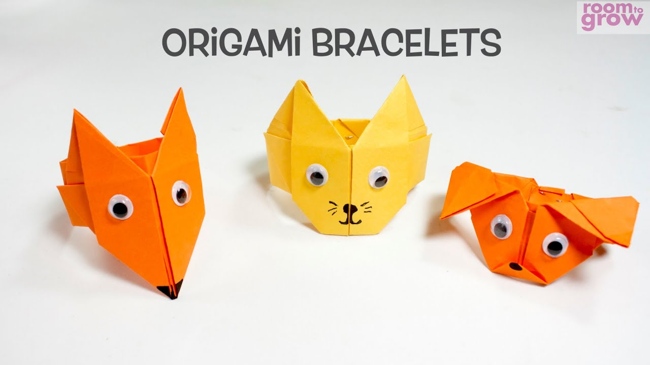 Origami Projects For Kids Origami Bracelets Fun Origami Craft Ideas For Kids Youtube