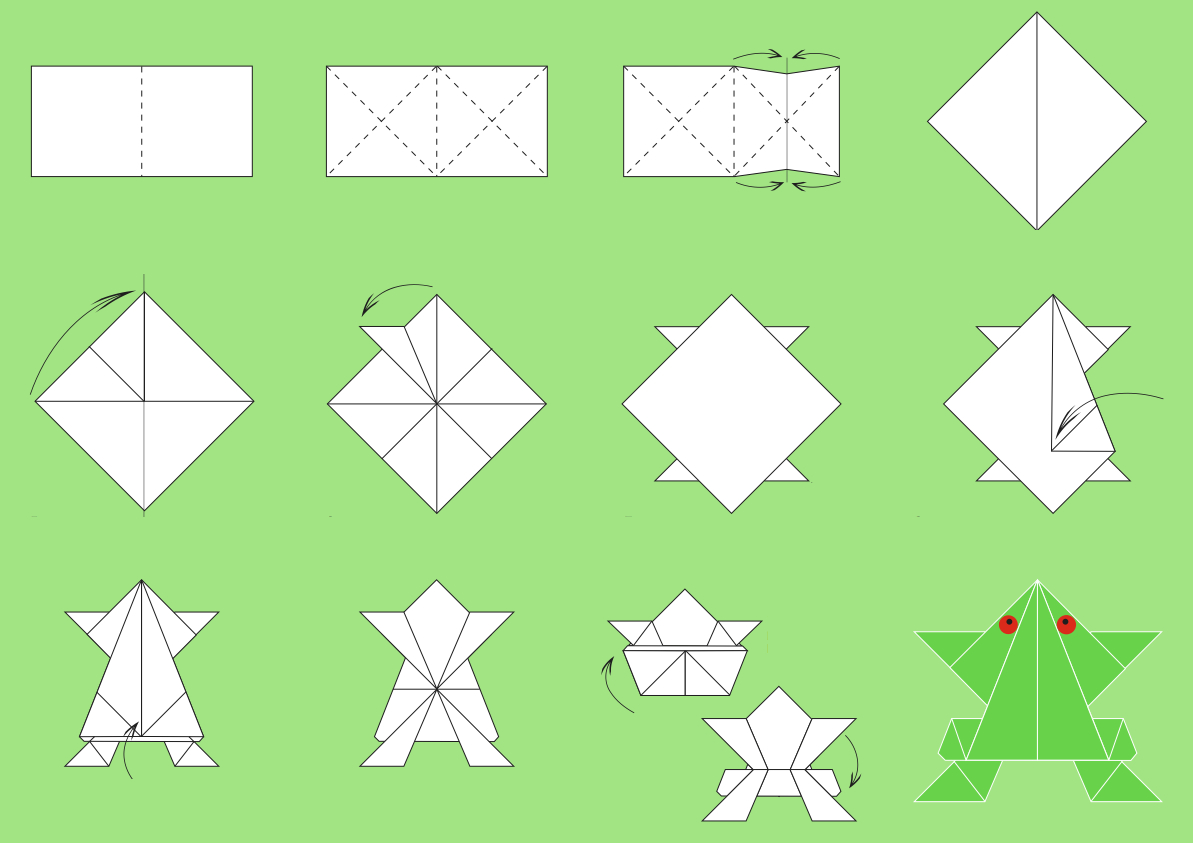 Paper Origami Step By Step Origami Origami Paper Folding Step Step Easy Origami