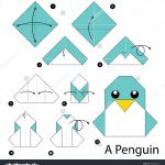 Paper Origami Step By Step Step Step Instructions How To Make Origami A Penguin Kids