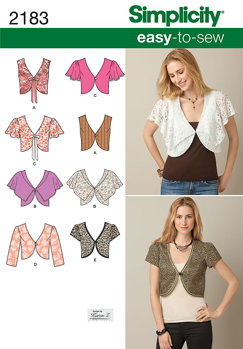 Pattern Sewing Easy Simplicity 2183 Misses Easy To Sew Vest Or Jacket