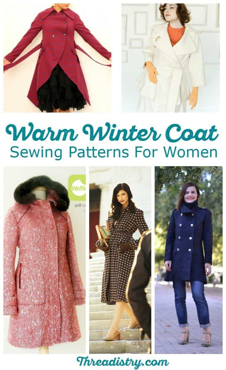 Pattern Sewing Women Brave The Cold With Wonderful Womens Winter Coat Sewing Patterns