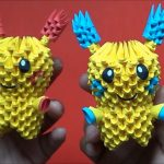 Pikachu Origami 3d Origami 3d Minun Y Pluslepokemon Youtube