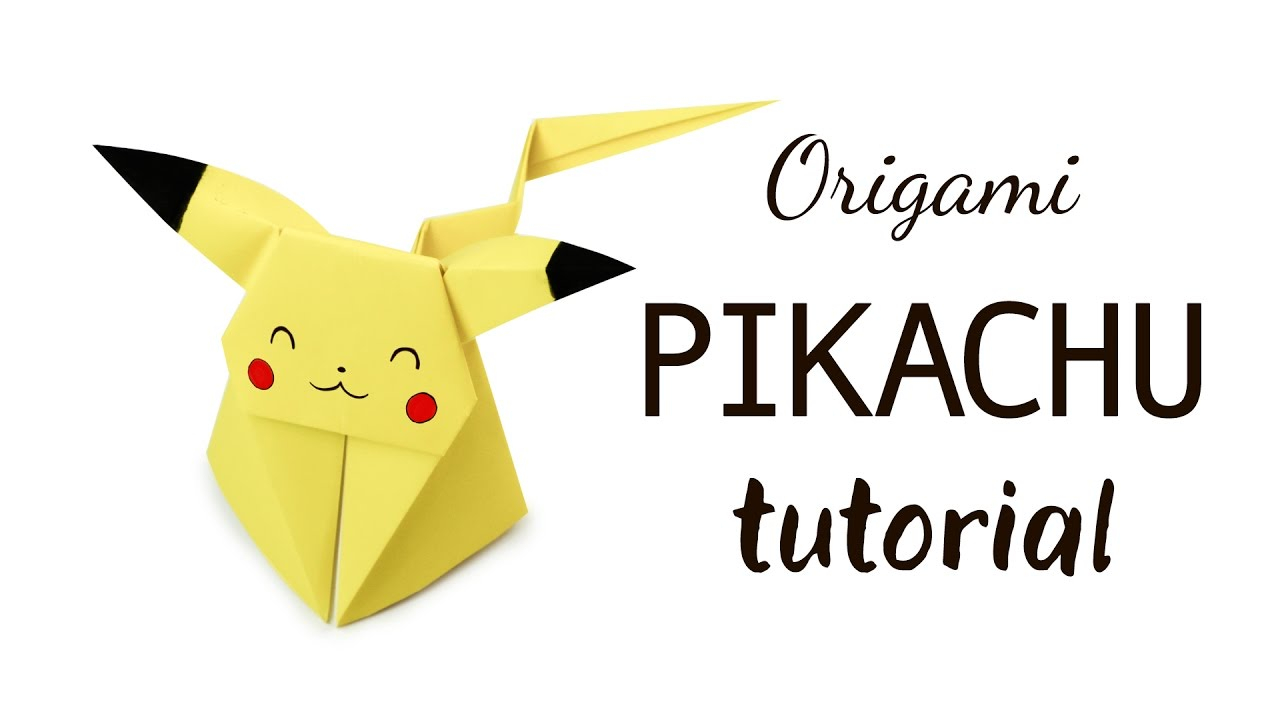 Pikachu Origami Pokemon Origami Pikachu Tutorial Pokemon Diy Paper Kawaii Youtube