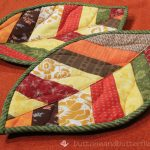 Sew Potholders Pot Holders Buttons And Butterflies Quilted Leaf Potholders Tutorial
