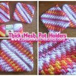 Sew Potholders Pot Holders Crocheted Pot Holders Thick Crochet Mesh Brick Stitch Stitch