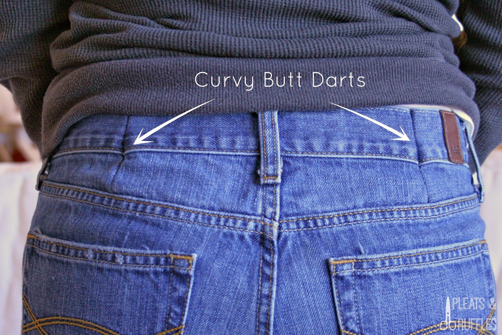 Sewing Darts In Pants Easy Ways To Make Your Off The Rack Jeans Fit Your Custom Body Fix