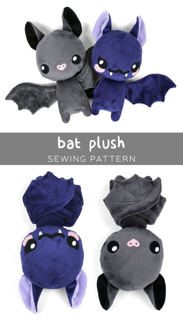 Sewing Plushies Free Pattern Free Plush Bat Pdf Pattern To Download So Cute Sewing