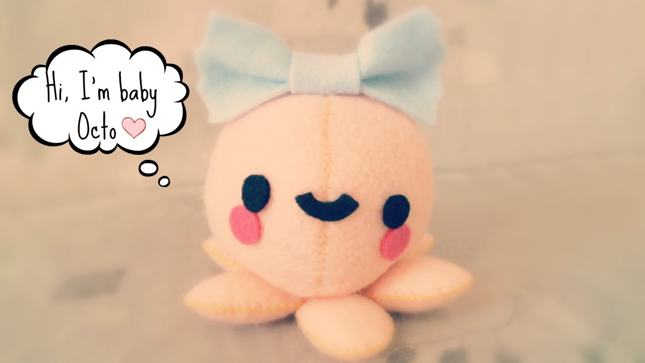 Sewing Plushies Tutorials How To Make A Kawaii Octopus Plushie Tutorial Youtube