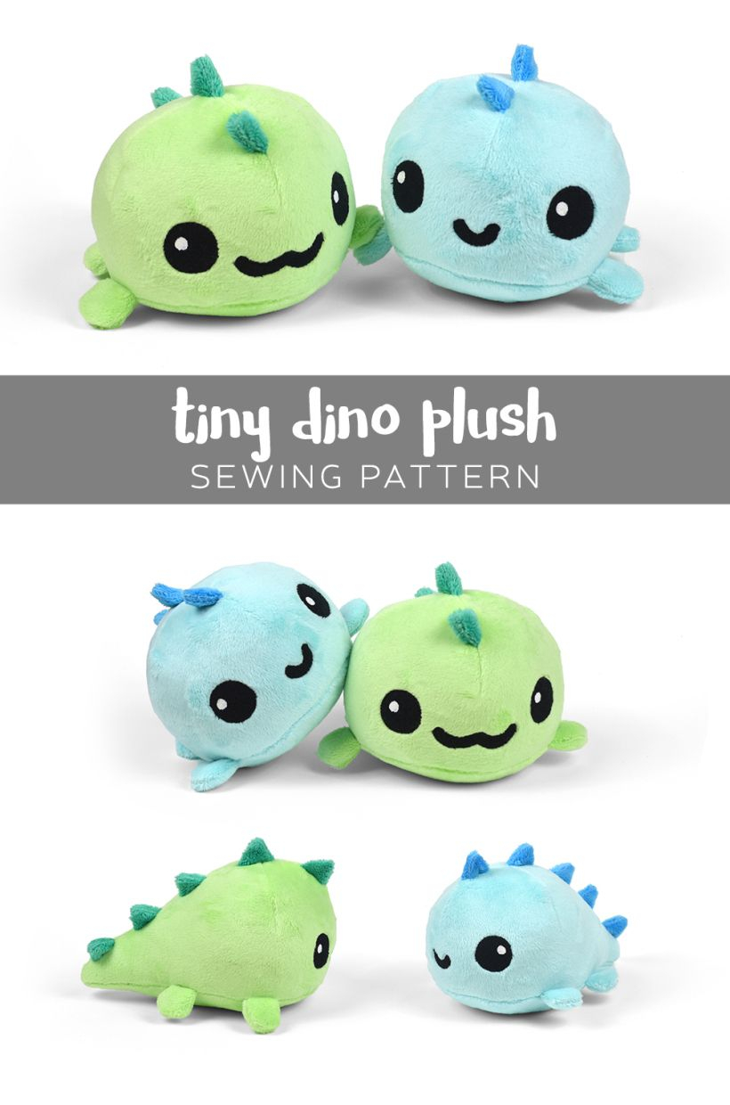 Sewing Plushies Tutorials Tiny Dino Plush Tutorial Choly Knight With Template A All Free