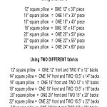 Sewing Printables Cheat Sheets Envelope Pillows Easy Room Refresher Sew What Pinterest
