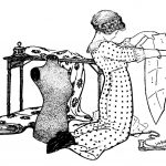Sewing Printables Free Vintage Vintage Sewing Clip Art Girl With Pattern And Dress Form The