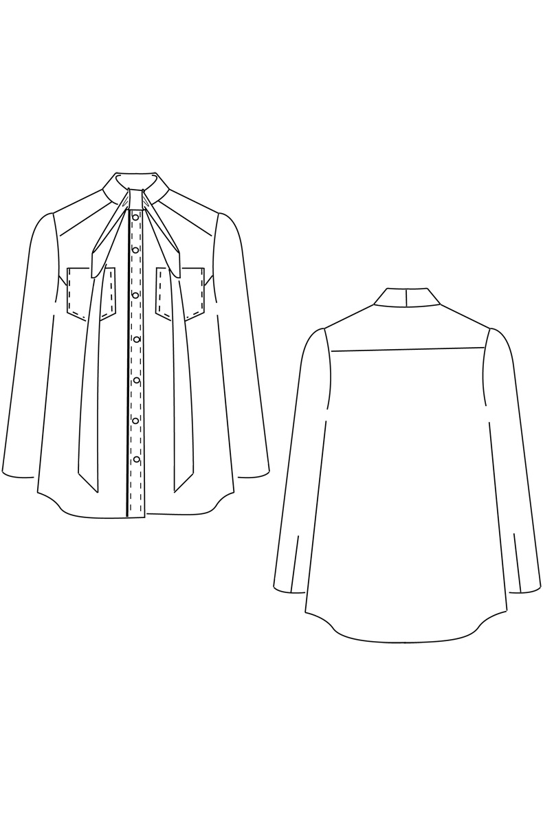 Sewing Tshirt Pattern Blouse Or Dress One Sewing Pattern Many Possibilities